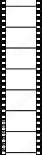 Foto バナー、アイキャッチ画像に使えるモノトーンカラーの映画フィルム縦型