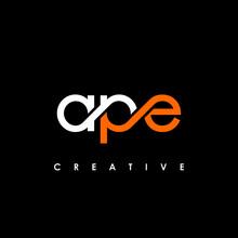 APE Letter Initial Logo Design Template Vector Illustration