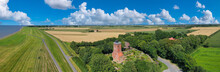 Panorama Aerial View Of Ox Tower In Imsum