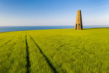 The Daymark, An Octagonal Day Beacon Near Dartmouth, Devon, England, United Kingdom