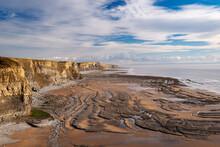 Dramatic Coastline Of Glamorgan Heritage Coast Near Dunraven Bay, South Wales, United Kingdom