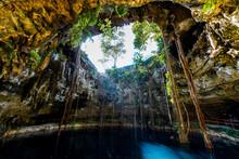 Cenote Oxmal, Valladolid, Yucatan, Mexico