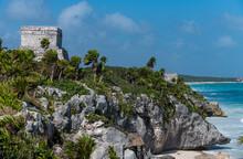 Pre-Columbian Mayan Walled City Of Tulum, Quintana Roo, Mexico