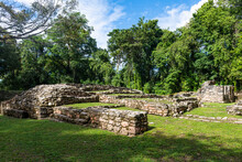Archaeological Maya Site Of Yaxchilan In The Jungle Of Chiapas, Mexico