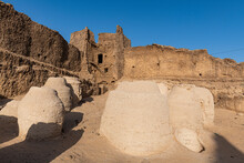 Giant Storage Pots In The Old Fort, Oasis Fachi, Tenere Desert, Niger, West Africa