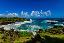 Beautiful View Of The Oceanside On Maui, Hawaii, United States Of America
