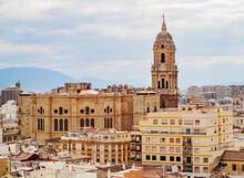 Catedral De La Encarnacion, Cathedral, Elevated View, Malaga, Andalusia, Spain