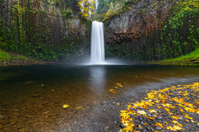 Abiqua Falls In Autumn, Scotts Mills, Marion County, Oregon, United States Of America