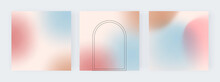 Blue, Brown And Pink Gradient Backgrounds For Social Media Banners