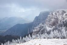 Ceahlau Massif In Winter, Eastern Carpathians, Neamt County, Moldavia, Romania