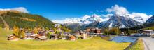 Panoramic View Of Arosa, Canton Graubunden, Switzerland