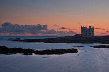 Castle Silhouette After Sunset, Quiberon, Brittany, France