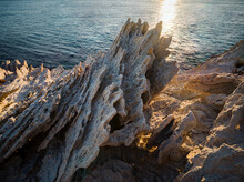 Spiked Harsh Rock On Antiparos Island, Cyclades, Greek Islands, Greece