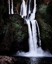 Ouzoud Waterfall After Sunset, Ouzoud, Morocco, North Africa