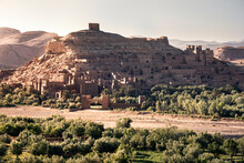 Ait Ben Haddou Ksar At Sunset, UNESCO World Heritage Site, Morocco, North Africa