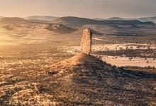 Vingerklip Rock Formation At Sunset, Namibia