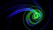 Motion Blue And Green Spiral Lines, Abstract Background