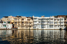 Udaipur Haveli Houses View From The Lake