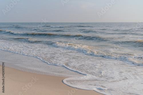 Fotografering Morning beachside wave view