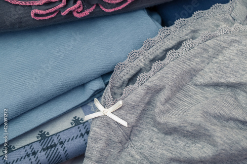 Cotton casual clothing, close-up Fotobehang