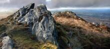 Le Roc'h Trevezel Dans Les Monts D'Arrée Massif Armoricain Bretagne Finistère France