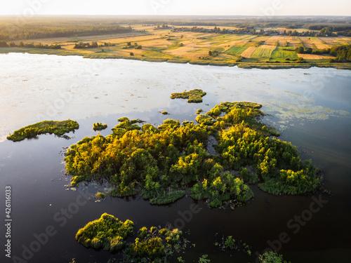 Fototapeta jezioro wytyckie, lato, zachód słońca obraz