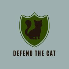 Defend The Cat Baseball Illustrator Vector Poster Design