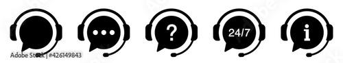 Fotografie, Obraz Support service icons