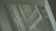 Luxury Large Crystal Chandelier Hanging In The Hall Blackmagic Ursa Mini 46k
