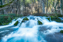 Mountain Wild River Valley Landscape. Landscape Along  Kotelska River In  Kotel,Bulgaria. Raging Mountain River In Green Valley. Bulgaria Nature And Travel Background. - Image