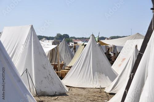 Fototapeta Festiiwal Słowian i Wikingów teren obozu, Wolin, Jomsborg   obraz