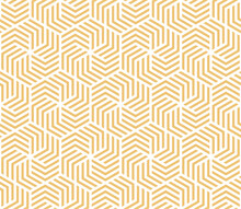 Illustration White And Yellow Hexagon Pattern Background That Is Seamless