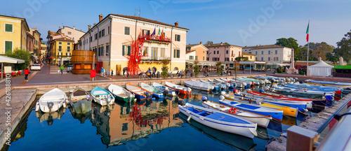 Fotografie, Obraz Bardolino, Hafen am Gardasee