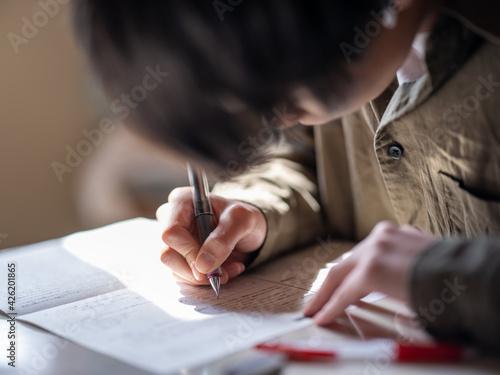 Fotografía 勉強する人
