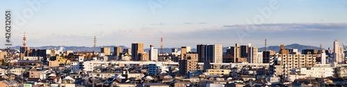 Photographie 夕暮れの地方都市の景色(栃木県宇都宮市)