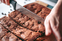 Freshly Baked Aromatic Chocolate Brownie