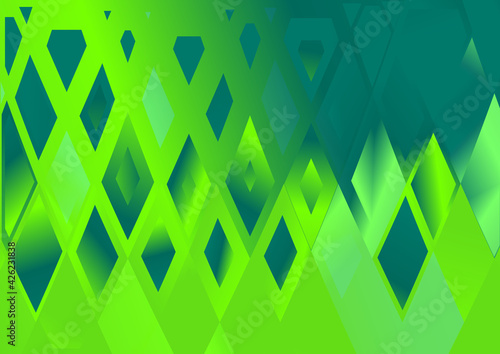 Canvas Print Blue and Green Fluid Color Geometric Triangle Background Graphic