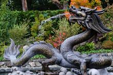 Dragon Statue In The Garden