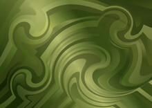 Abstract Olive Green Gradient Ripple Lines Background Vector