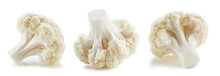 Organic Cauliflower Isolated On White Background. Cauliflower On White Background. Cauliflower With Clipping Path