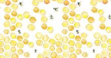 Baner For Social Media Honey Honeycomb Bees Flowers Summer Mood