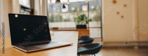 Fotografie, Obraz Laptop on boardroom table
