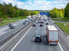 Stauende Auf Der Autobahn In Deutschland