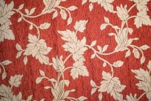 Medieval Red Textile Texture. Decoration, Indoors