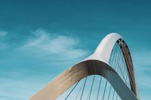The De Oversteek Bridge In The Dutch City Of Nijmegen.