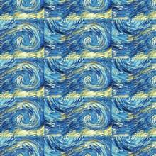 Van Gogh Notte Stellata Pattern Geometrico 41