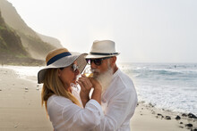 Lifestyle With Caucasian Senior Couple
