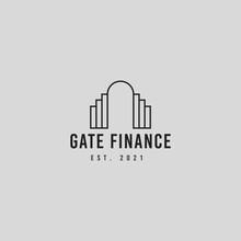 Gate And Financial Logo Icon Design Illustration