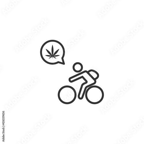 Fototapeta Cannabis delivery icon isolated on white background. Shipping symbol modern, simple, vector, icon for website design, mobile app, ui. Vector Illustration obraz na płótnie