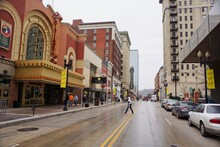 Knoxville USA - 16 February 2015 - Downtown Knoxville Street Scene